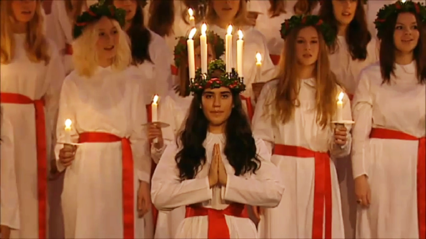 Image result for germans celebrating christmas santa lucia""